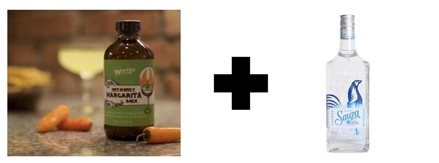 Whites Elixirs Spicy Margarita + Sauza Silver Tequila