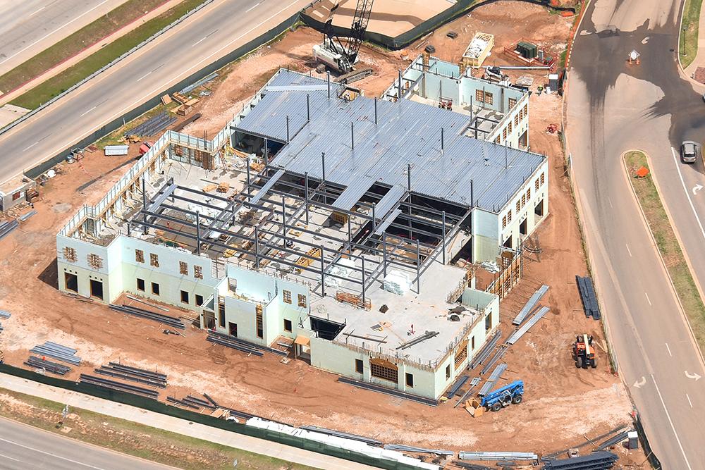 Texas Tech Admin Building Aerial