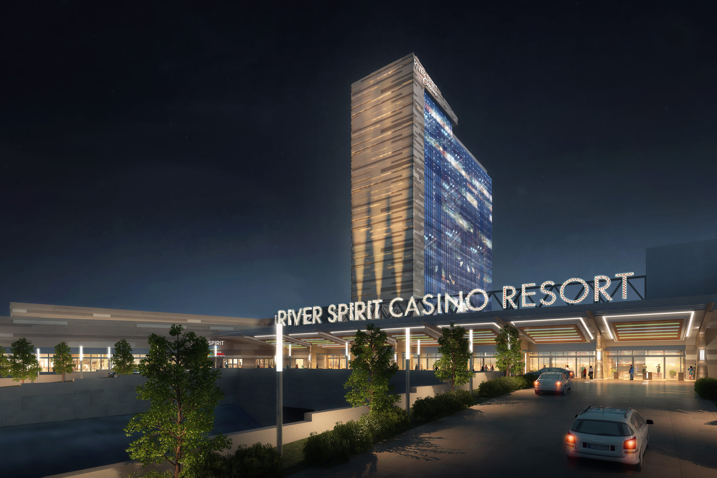 Tulsa, OK   29-Story Hotel - 375,000 SF, Casino - 90,000 SF, Conference - 60,000 SF, Theater - 60,000 SF, Lobby - 60,000 SF = 1.2 Million SF Total   2017