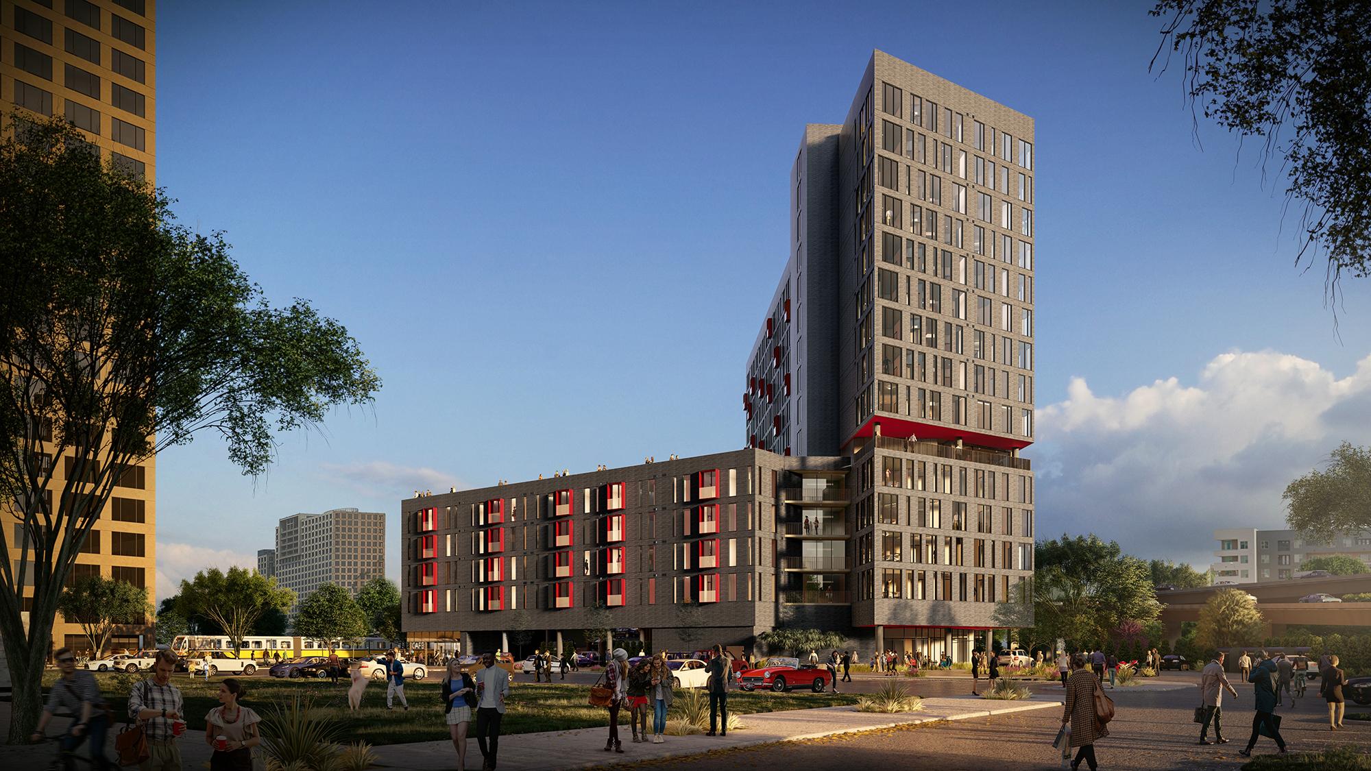 Dallas, TX | 245,000 SF 15-story Residential Tower; 148,000 SF 7-story Retail/Garage | 2019