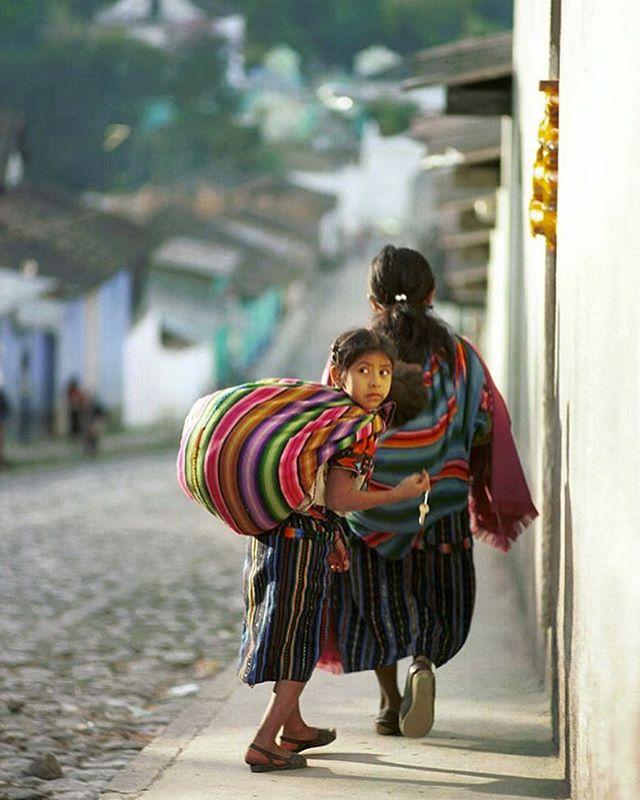 Chichicastenango, El Quiché, Guatemala. indigenous,handwoven costume.  Nikon FM2n Nikkor 135mm f2.8  Fuji Provia 35mm film