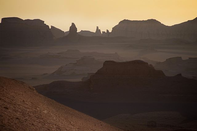 """Another photograph of the Lut Desert / Dasht-e Loot (Persian: دشت لوت, """"Emptiness Desert""""), Iran. Apparently the hottest land surface on Earth - up to 70 Celsius (159 degrees Fahrenheit) mid summer… The most otherworldly place and up there on my list of amazing places…  Follow @tribaleye for updates, outtakes, unpublished and archive material  #hottestdayoftheyear  #hot  #hottestplaceonearth  #kaluts  #iran  #desert  #lutdesert  #imageoftheday  #adventure  #adventuretravel  #iphoneography  #sunrise  #globalwarming  #globalnomads  #wanderlust  #wanderlustmagazine  #traveltheworld  #travelgram  #travelphoto  #travelawesome #documentaryphotography #archaeology #iran #Persian  #documentary #igtravel #visualarchitects @dpinteractive @simonnorfolkstudio"""