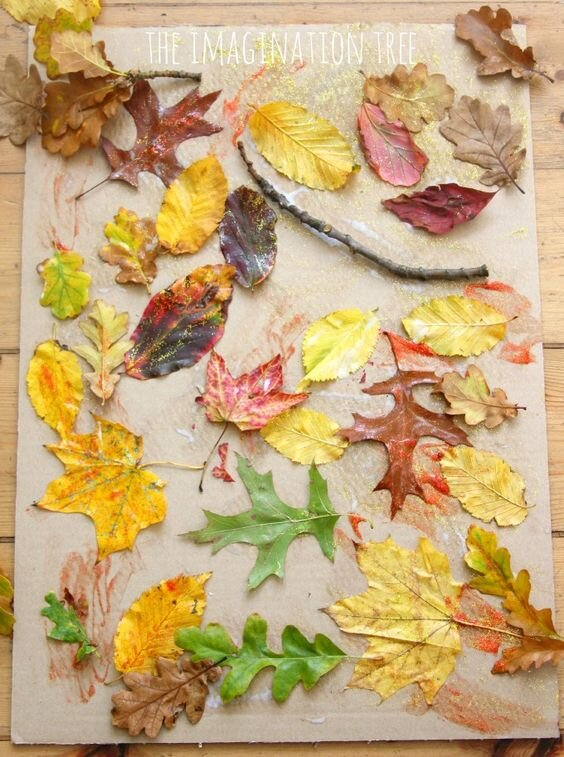 Photo Credit: The Imagination Tree ( https://theimaginationtree.com/12-autumn-leaves-art-activities/)