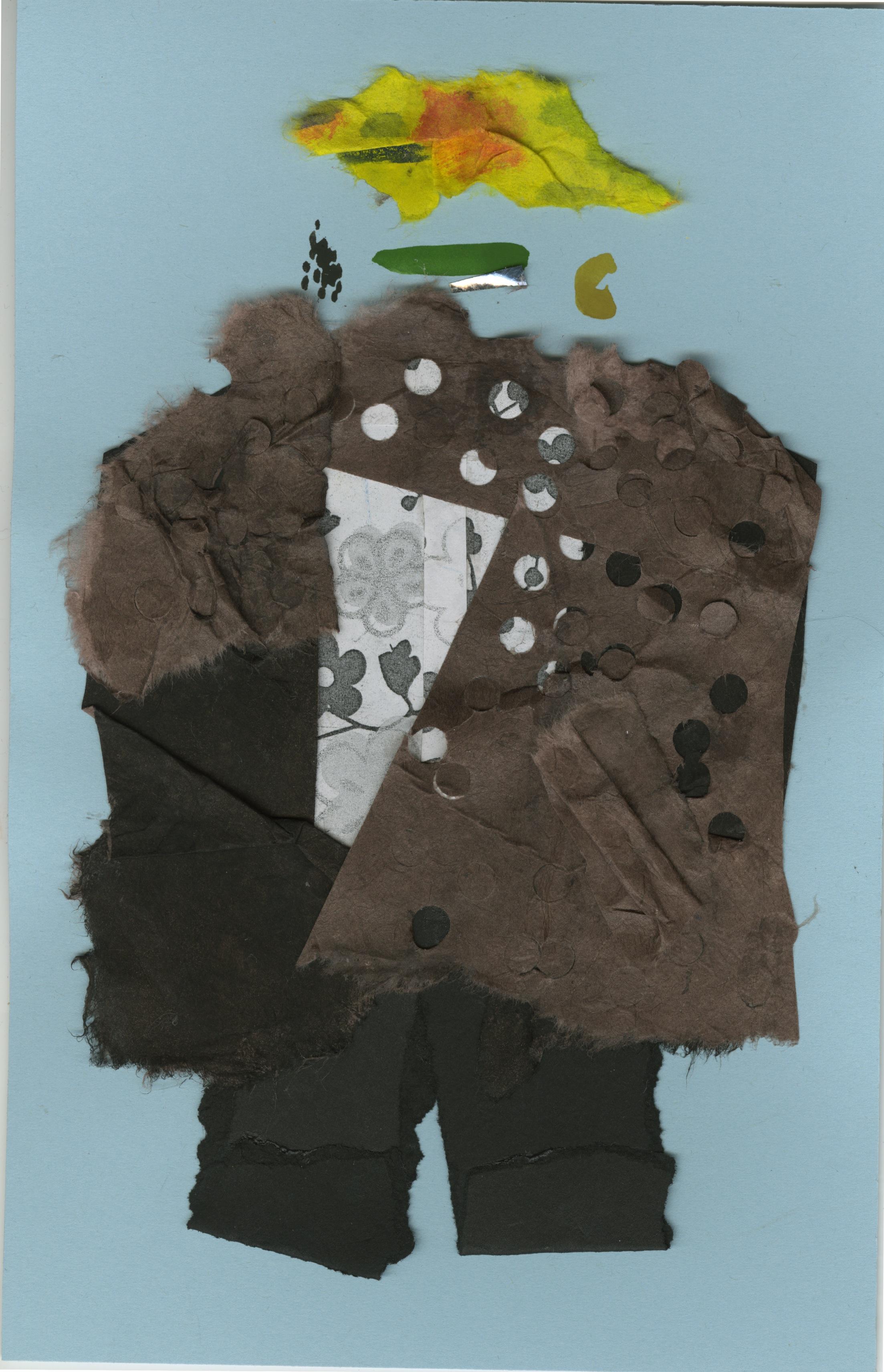 Baba Yaga Boy   Gouache and Collage  2016