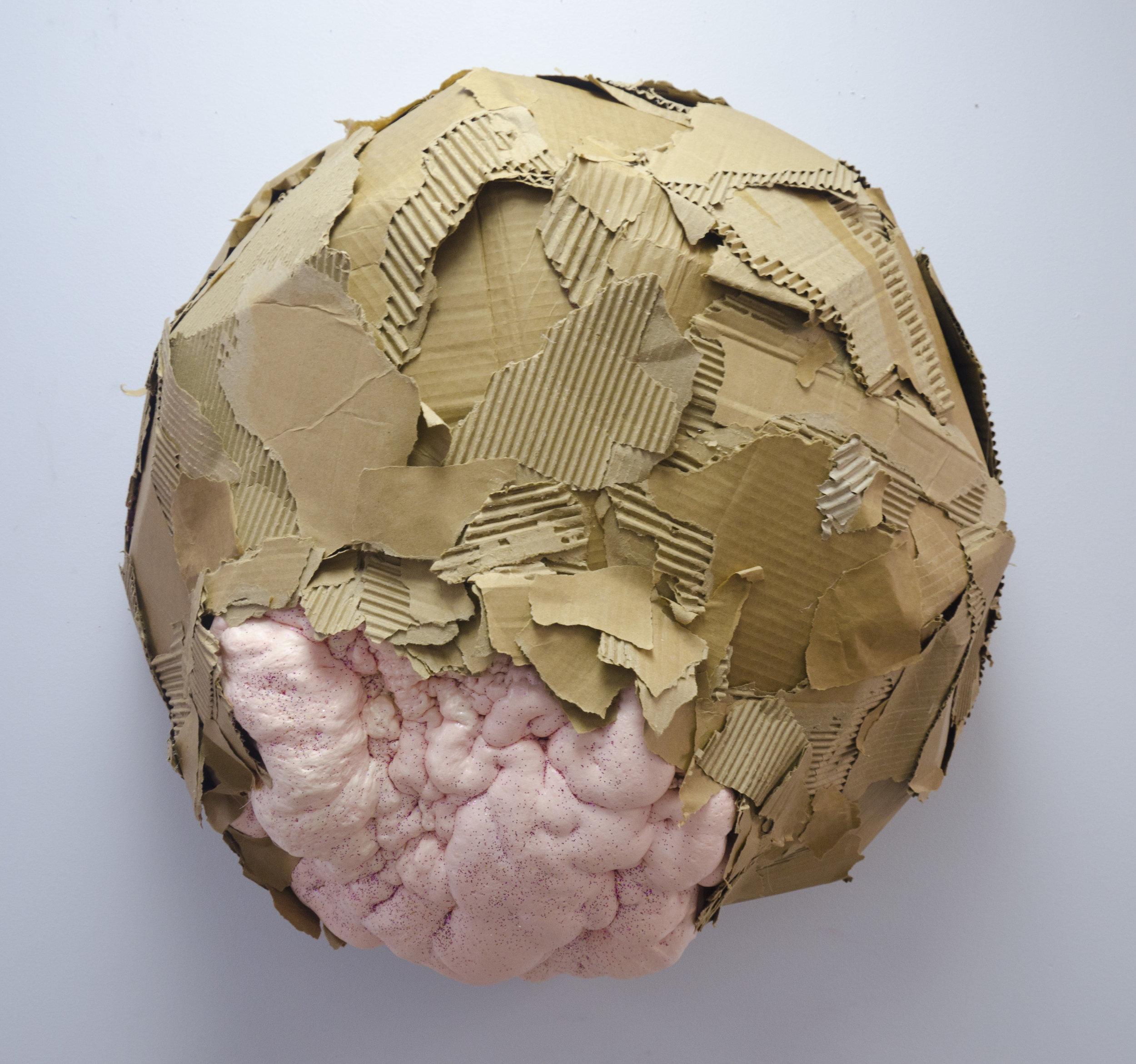Bust    Cardboard, foam, acrylic, and glitter  2017