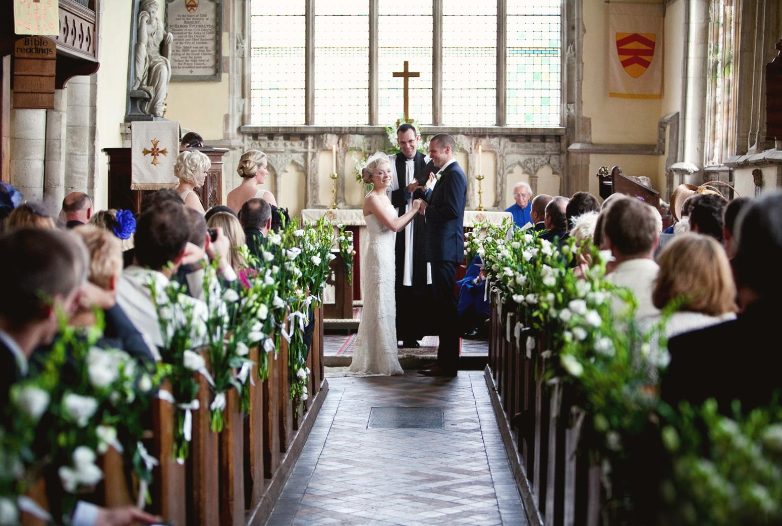 Chruch wedding in England