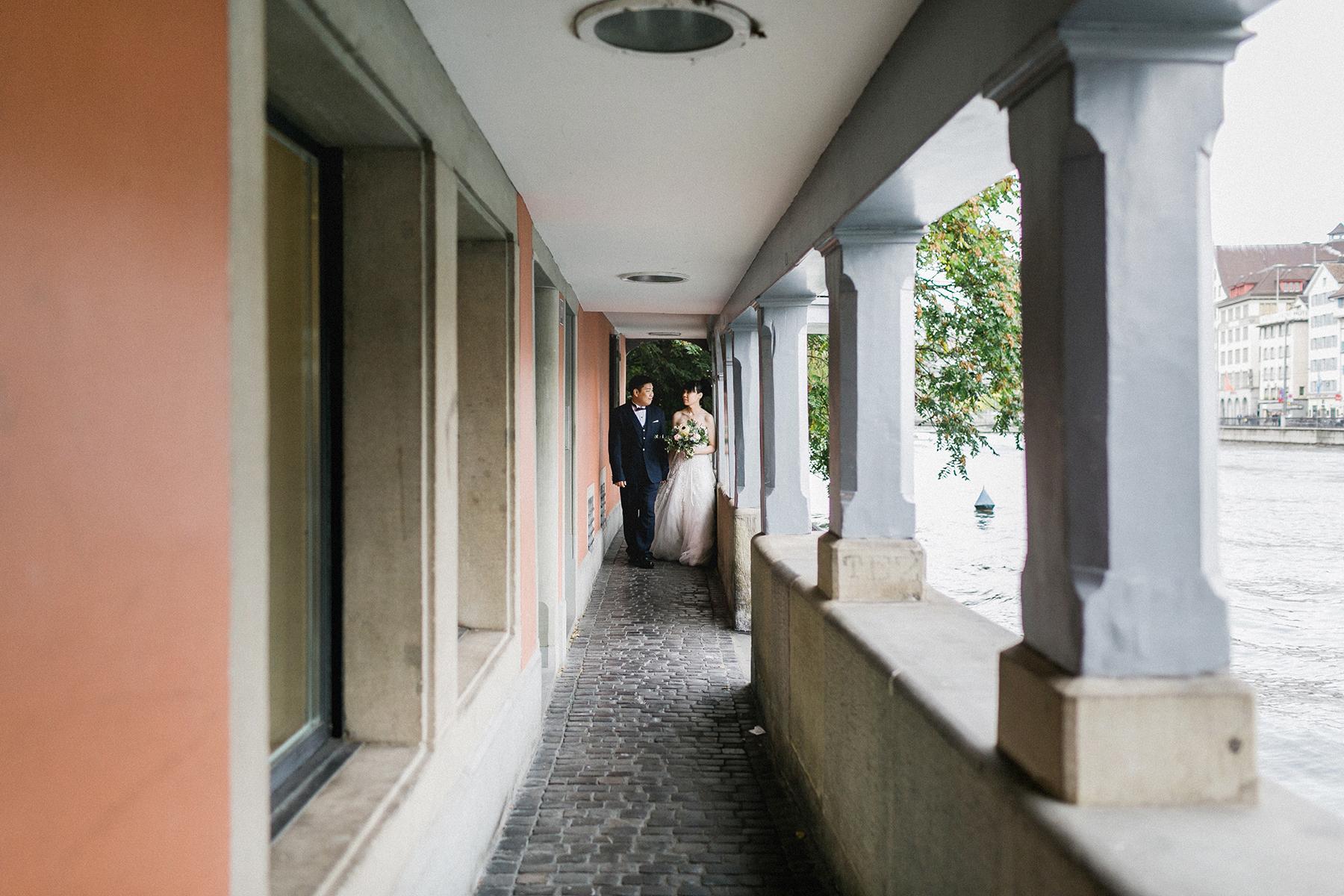 Couple elopement in Zurich