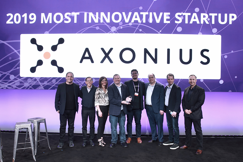 The Axonius team wins Most Innovative Startup during the RSA Conference 2019 Innovation Sandbox  (click the image to learn more)