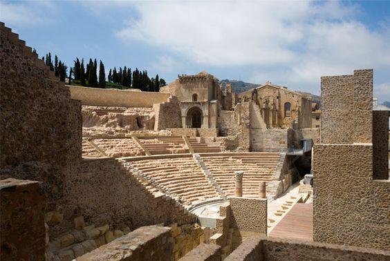 ciudad de cartagineses y romanos - itinerario de la ruta arqueológica
