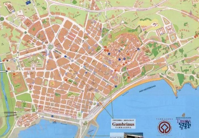 Plano turístico de la ciudad - Descargable en pdf