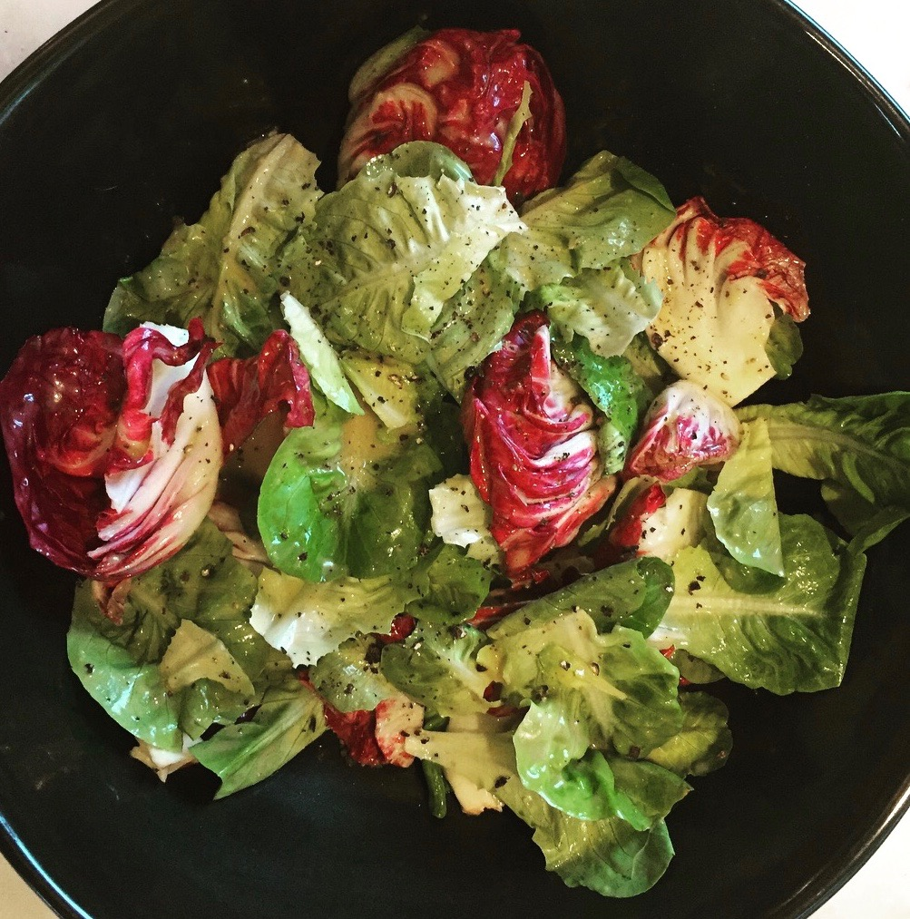 Copy of chicory salad with lemon anchovy dressing