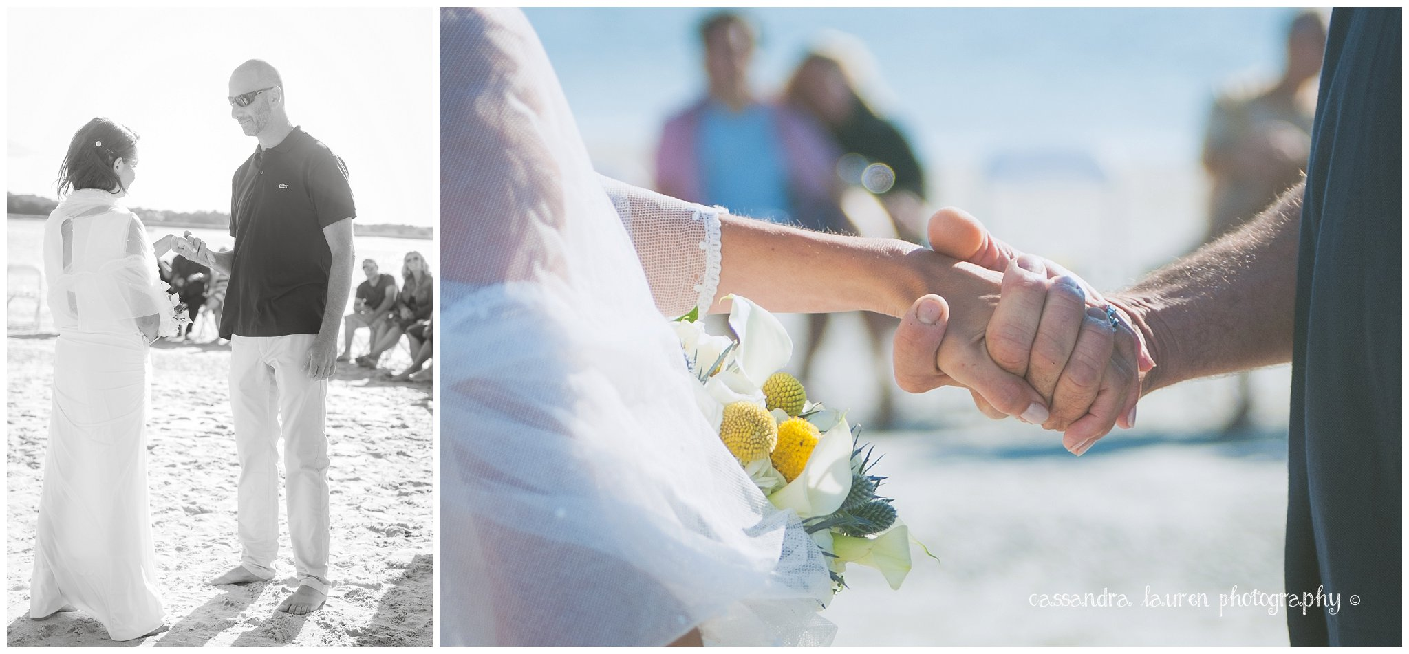 Beach Wedding Ceremony Essex River MA photographer