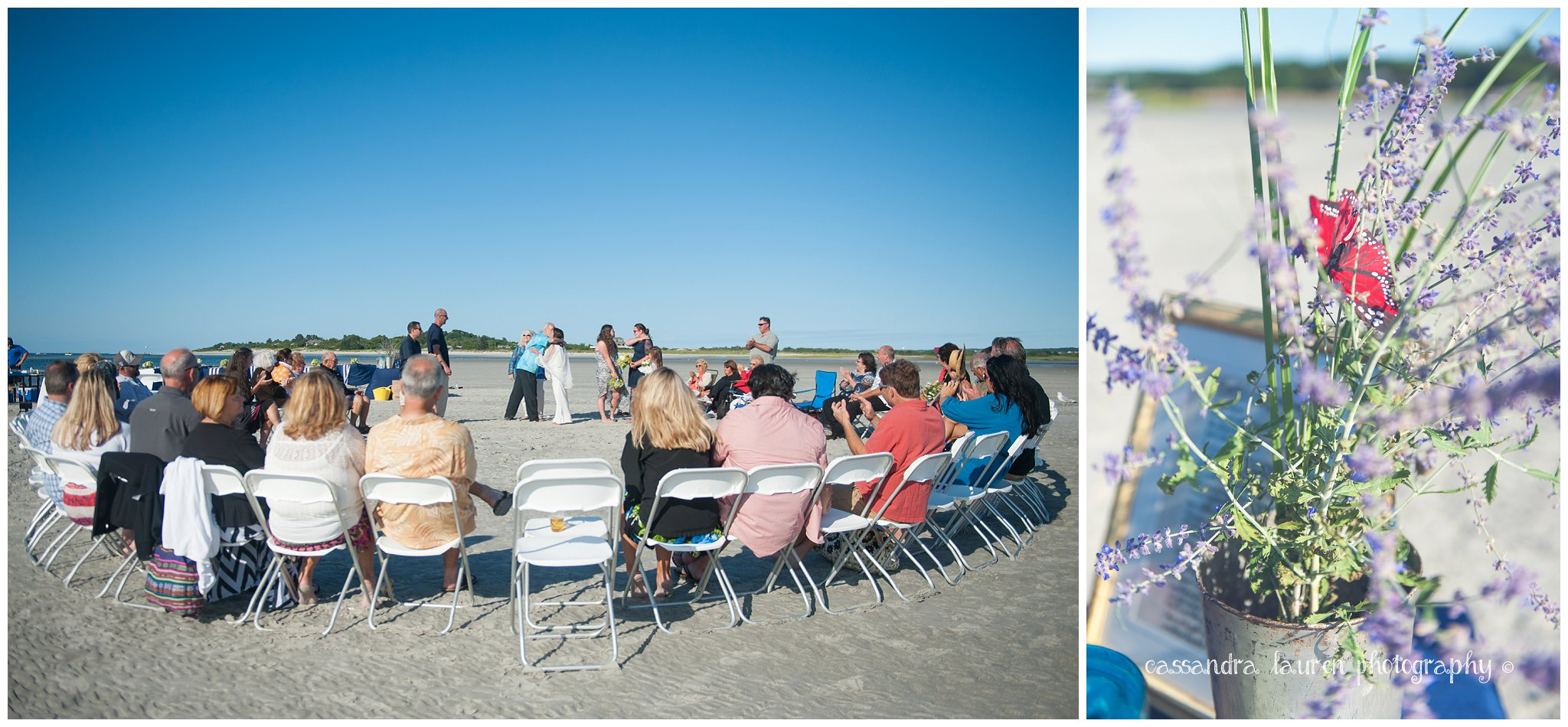 Tidal Island Wedding Ceremony Northshore MA photographer