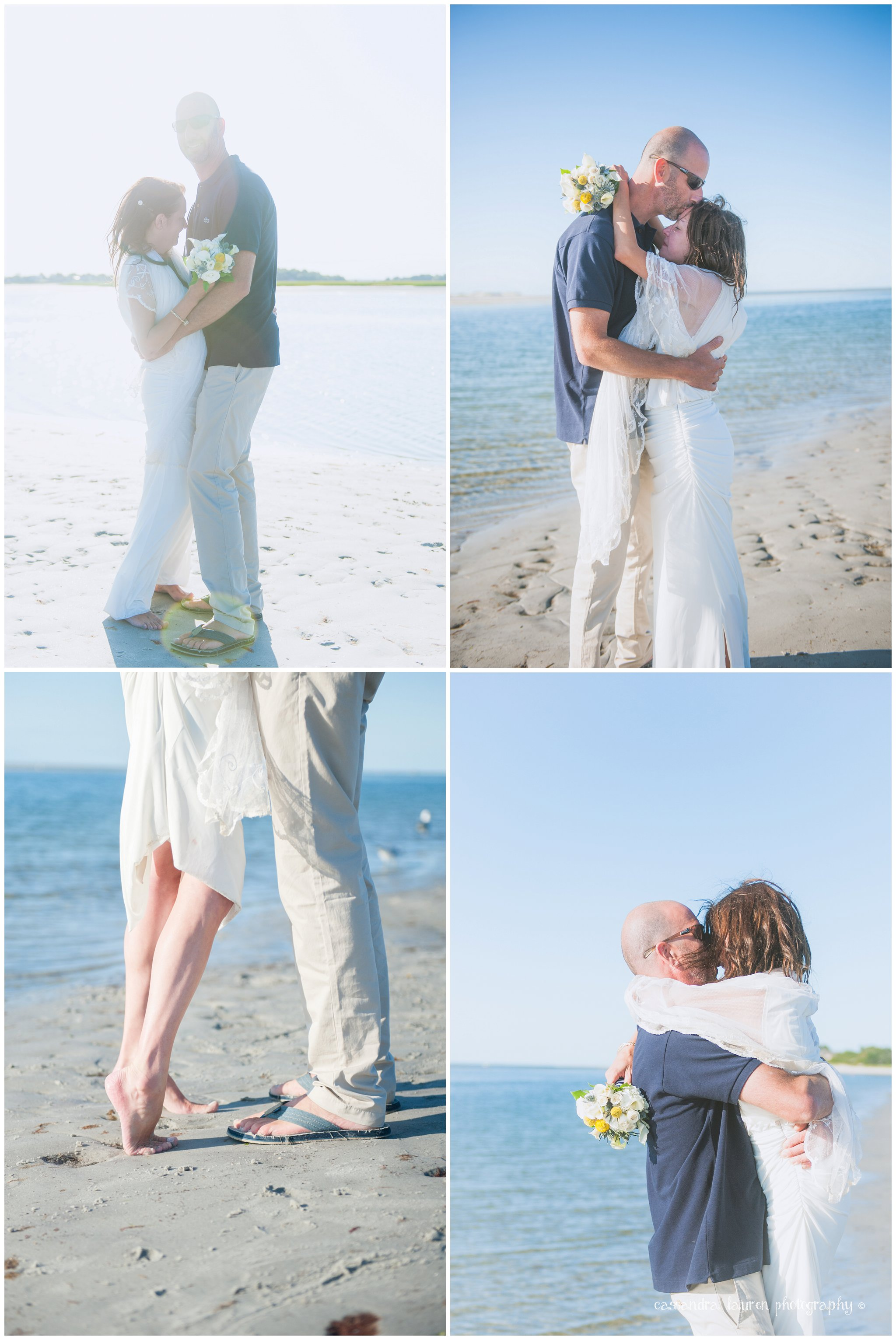 Bride and Groom Beach Wedding Northshore MA photography