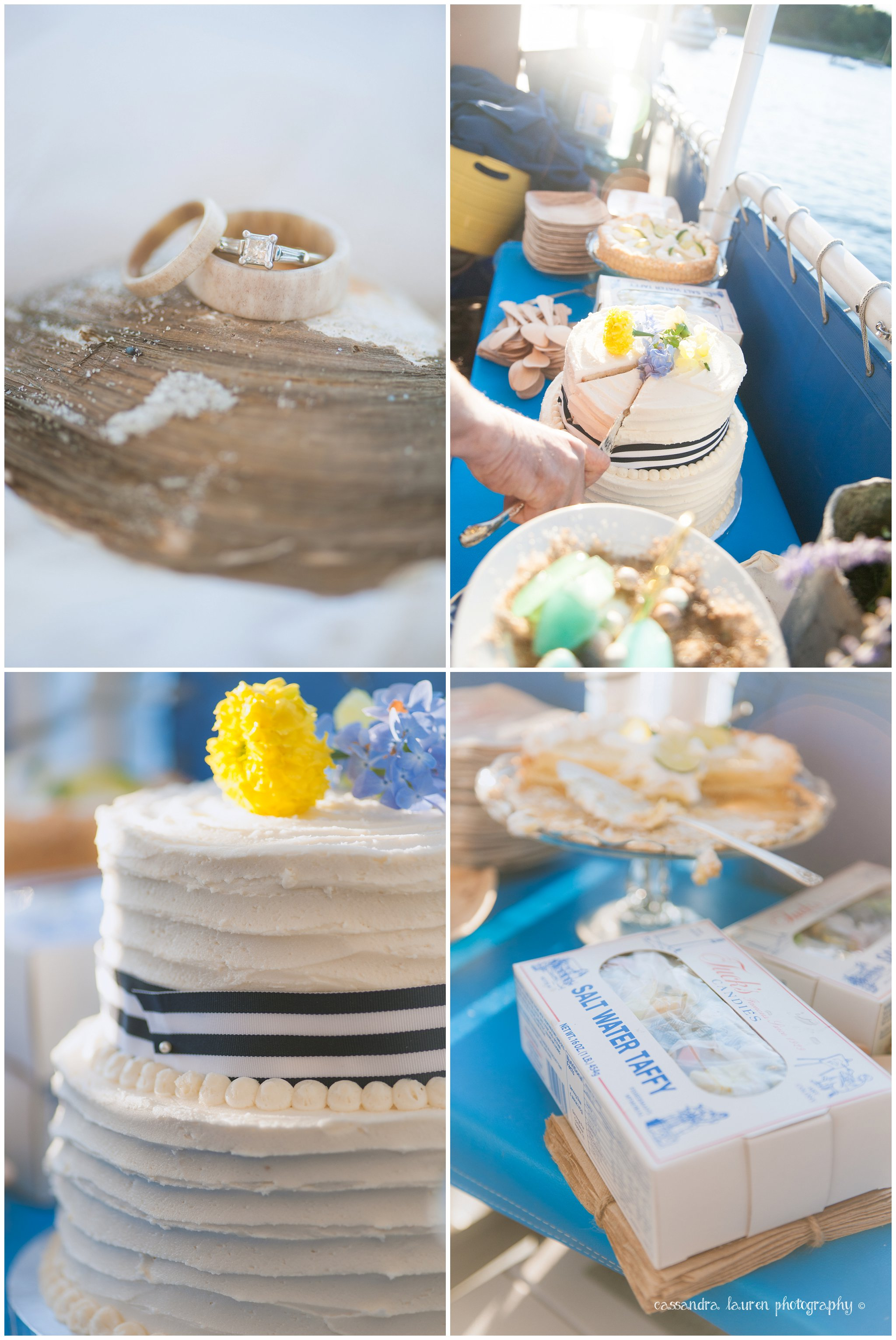 Nautical Beach Wedding Boat Essex MA photographer