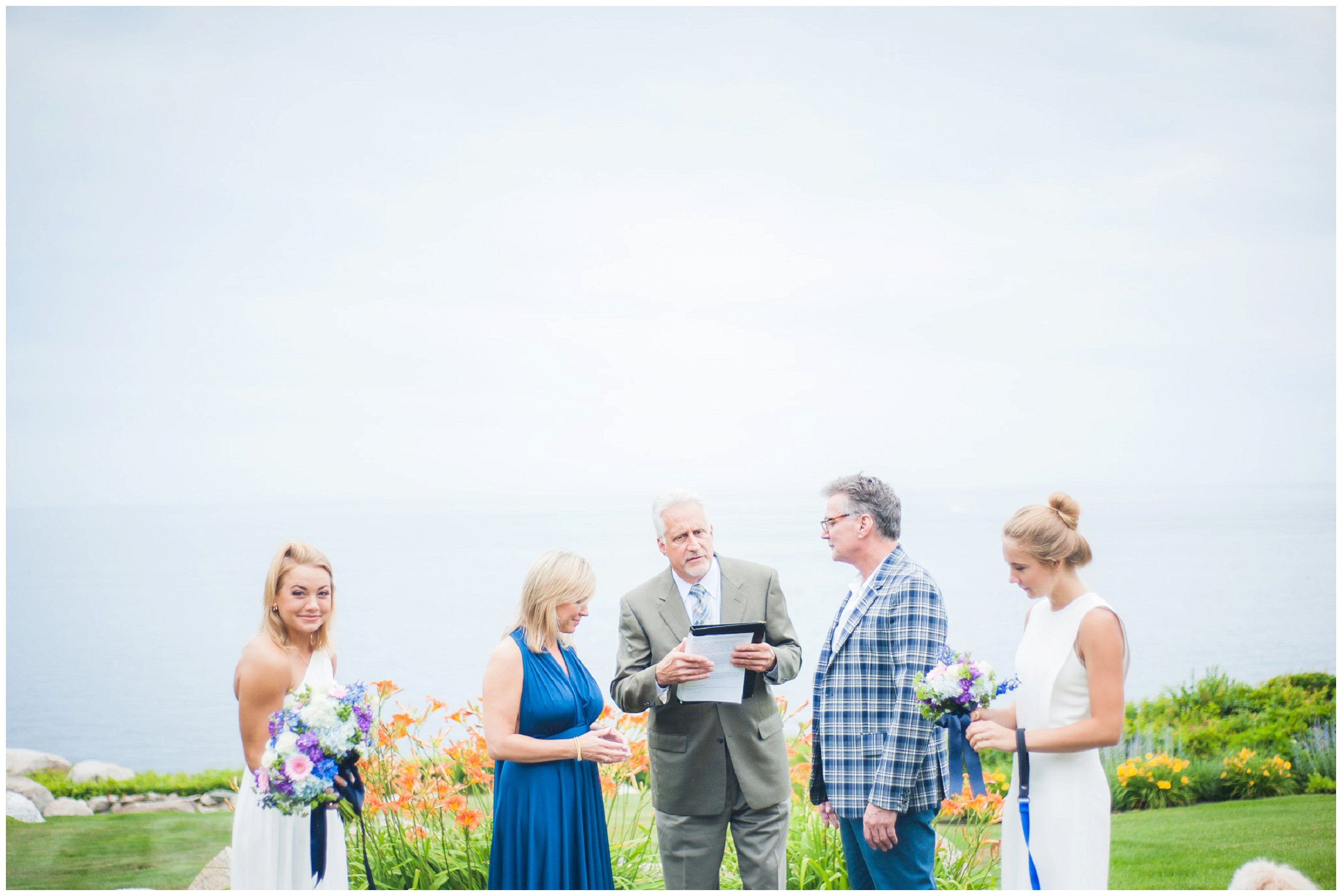 Rockport MA intimate wedding ceremony photography