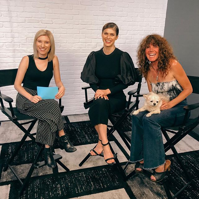 Fun chat with @alexandradaddario and Elise Duran all about their new film @canyoukeepasecretmovie for @hollywoodreporter 🎥 (With a special appearance by @tootsmcgillicuddy 🐶)