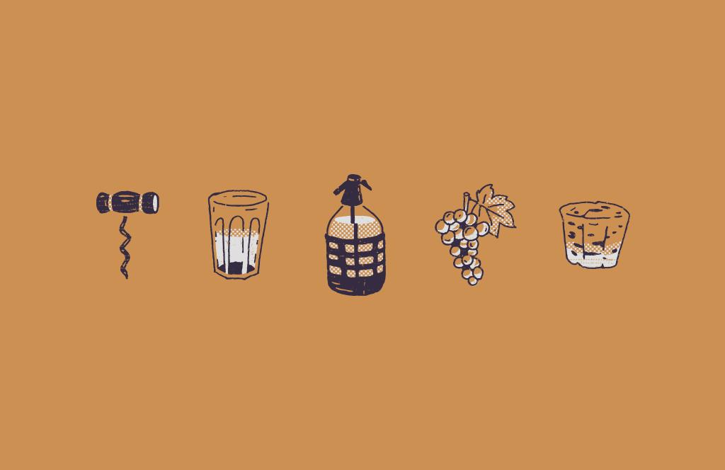 Damajuana ilustraciones