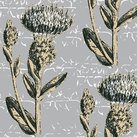 thistle espalier, grey