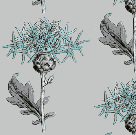 thistle sprig, diamond tiffany