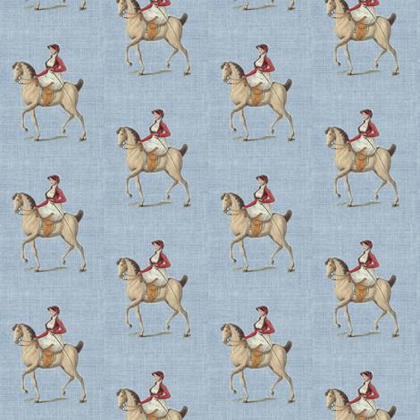 equestrian tiny blue parchment