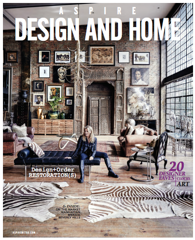 Tamara's Interview at Aspire Design & Home, August issue