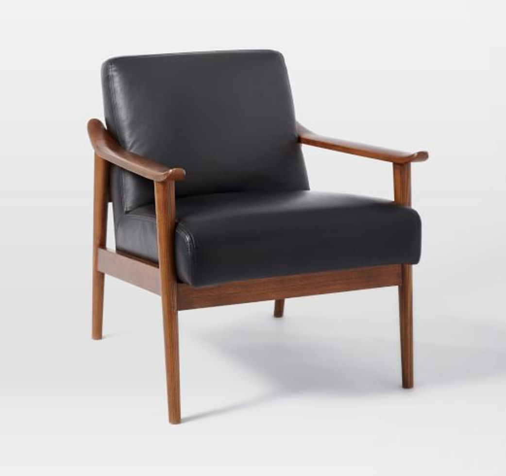 Mid-Century Leather Show Would Chair