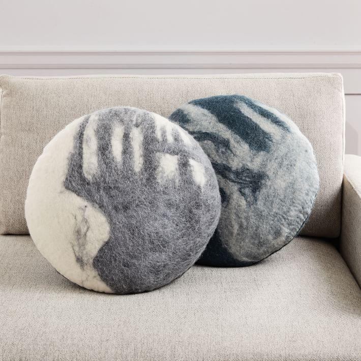 Full Moon Felted Pillows