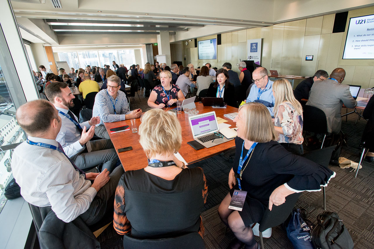U21 HSG Annual Meeting 2018 - In September 2018, the IPE Special Interest Group held its inaugural open forum at the U21 Health Sciences Group Annual Meeting hosted by the University of Melbourne.Delegates discussed their approach to building sustainability in IPE under five headings: Situation | Stakeholders | Solutions | Successes | Seeds to growDownload our presentations from the event here.