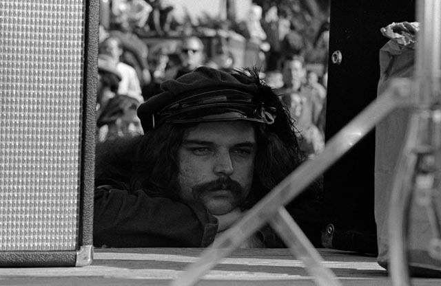 "Ron ""Pigpen"" McKernan  was a founding member of the band, and its organ player. Before the Dead started their set at the Human Be-In, I found him in a quiet moment."
