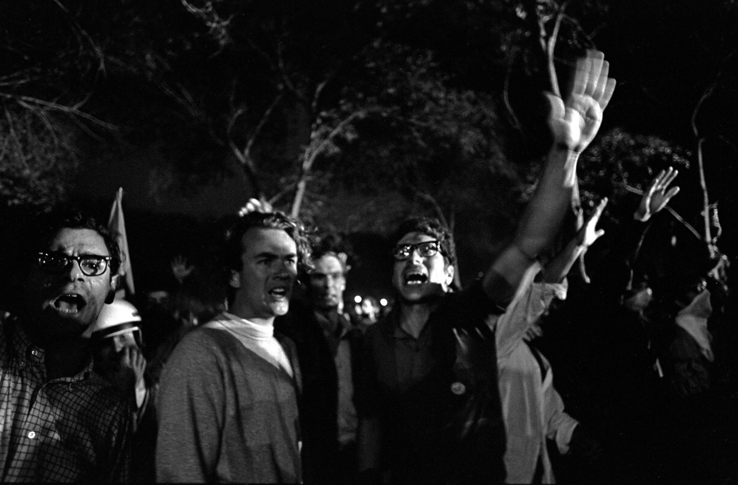 """Sieg, Heil!"" is what we chanted outside the Hilton Hotel on Michigan Avenue that night after Chicago police charged the crowd, pushing them through the hotel's plate glass window."