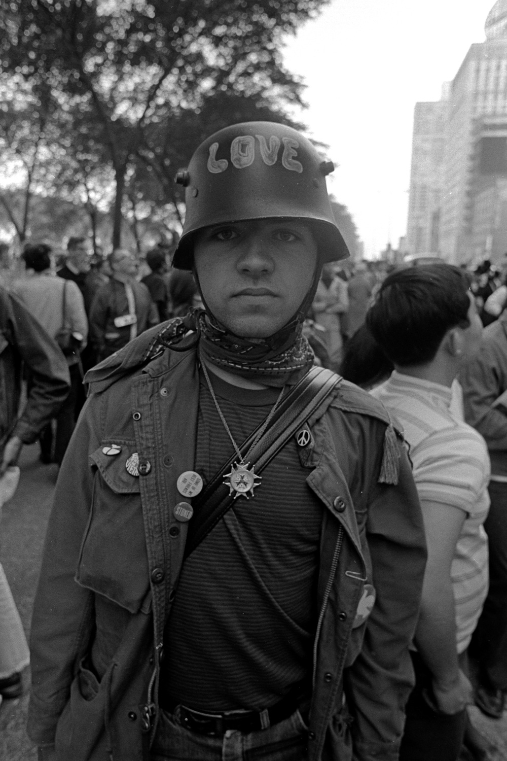 Tough love in 1968 meant dressing for combat, but showing your adversaries you were part of the love army.