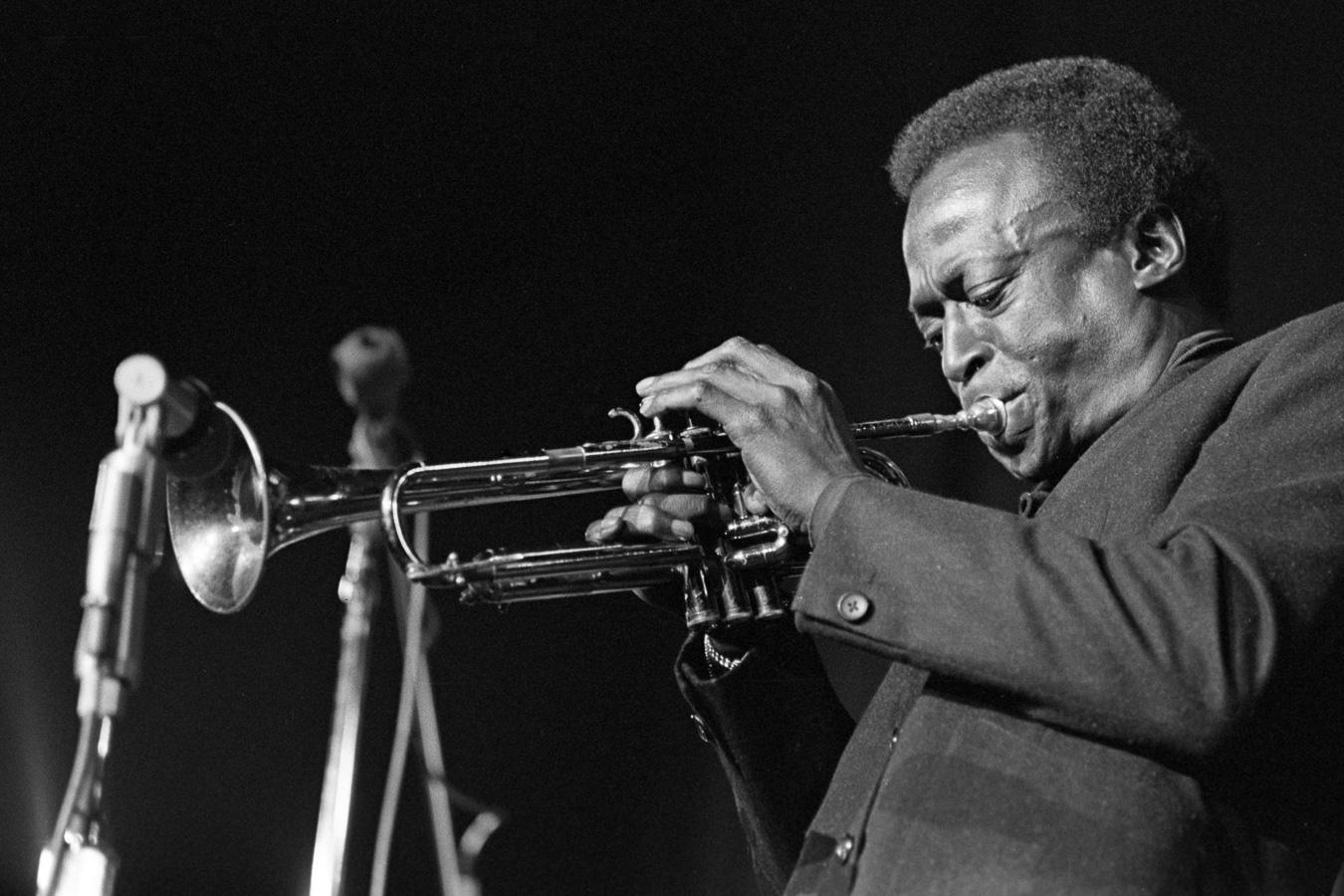 Miles Davis at the Berkeley Jazz Festival in April 1968.