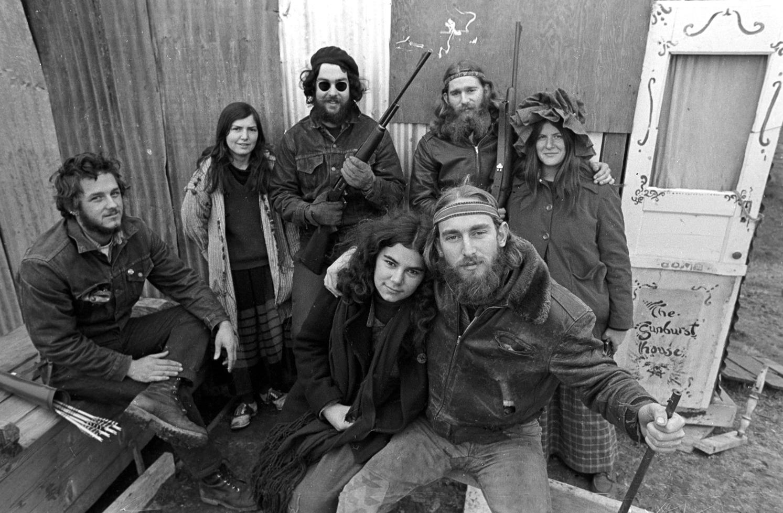 The Sunburst House commune, Santa Cruz, 1968