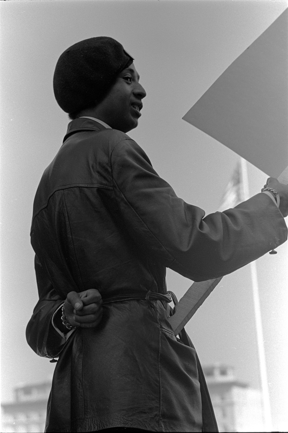 Bobby Hutton , a younger member of the Black Panther's Oakland chapter, April 1968. (He was killed in a police shoot-out just days later.)