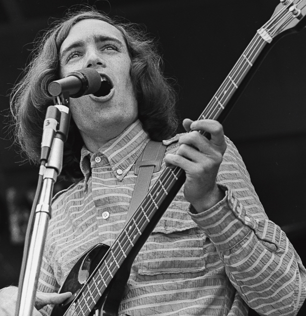 Bruce Barthol of Country Joe and the Fish, at the Monterey Pops Festival, 1967