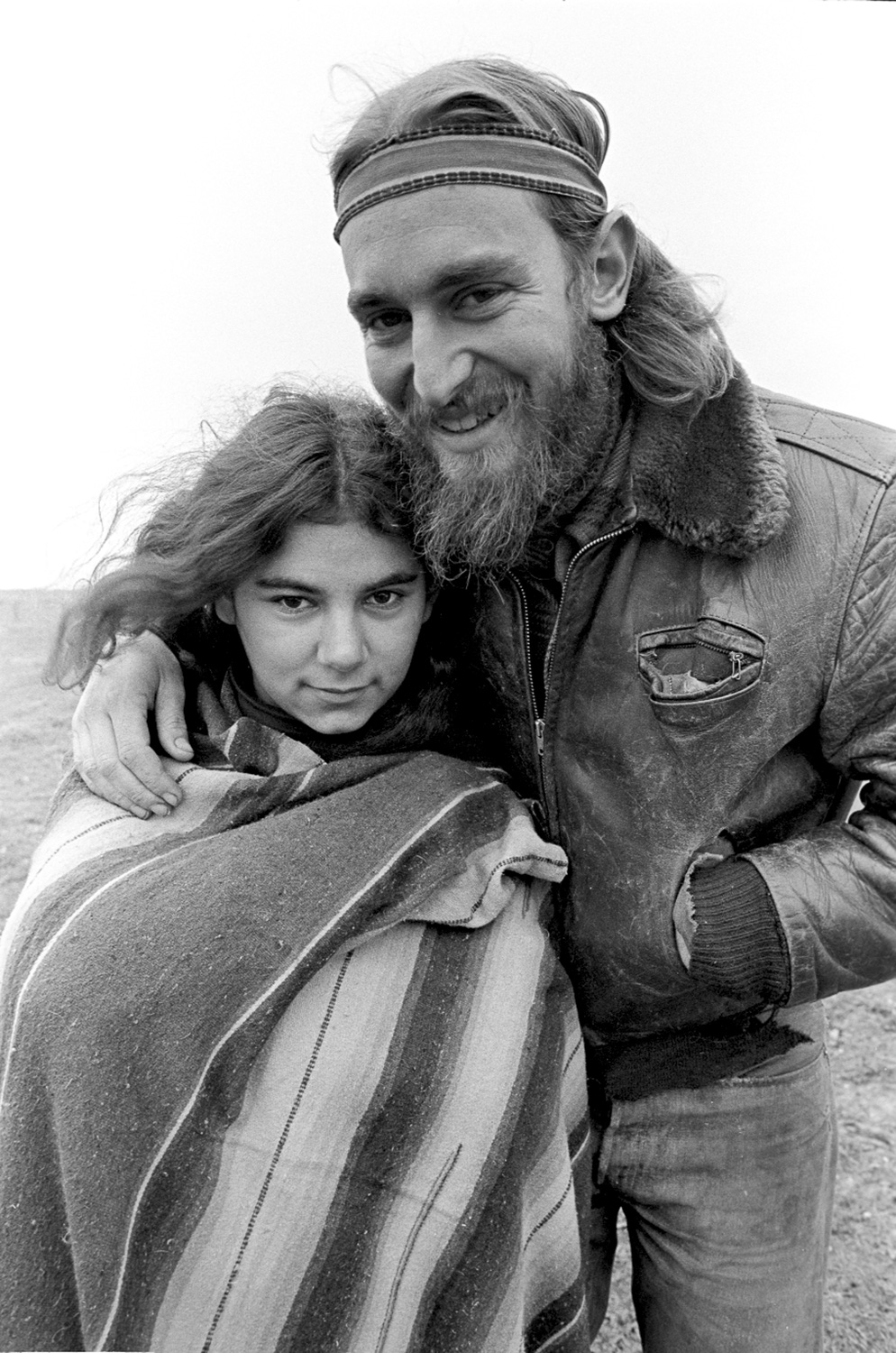 Two members of the Sunburst House commune, Santa Cruz, 1968-69.