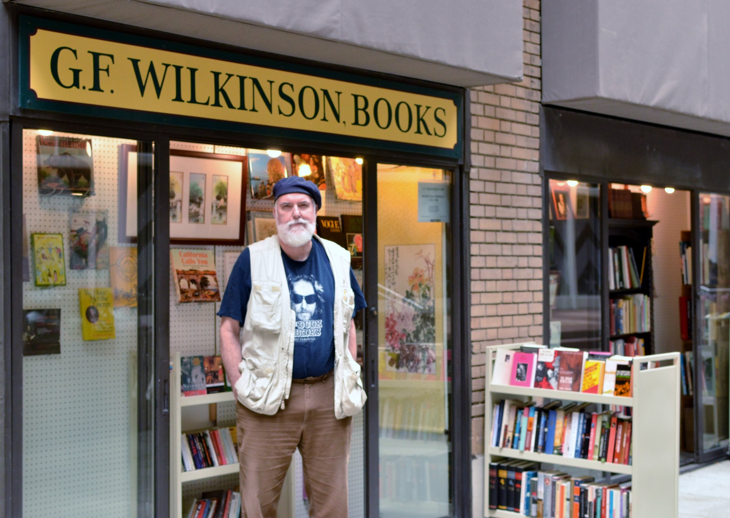The owner of G.F. Wilkinson books loves that people can casually browse his collection on their smoke break.