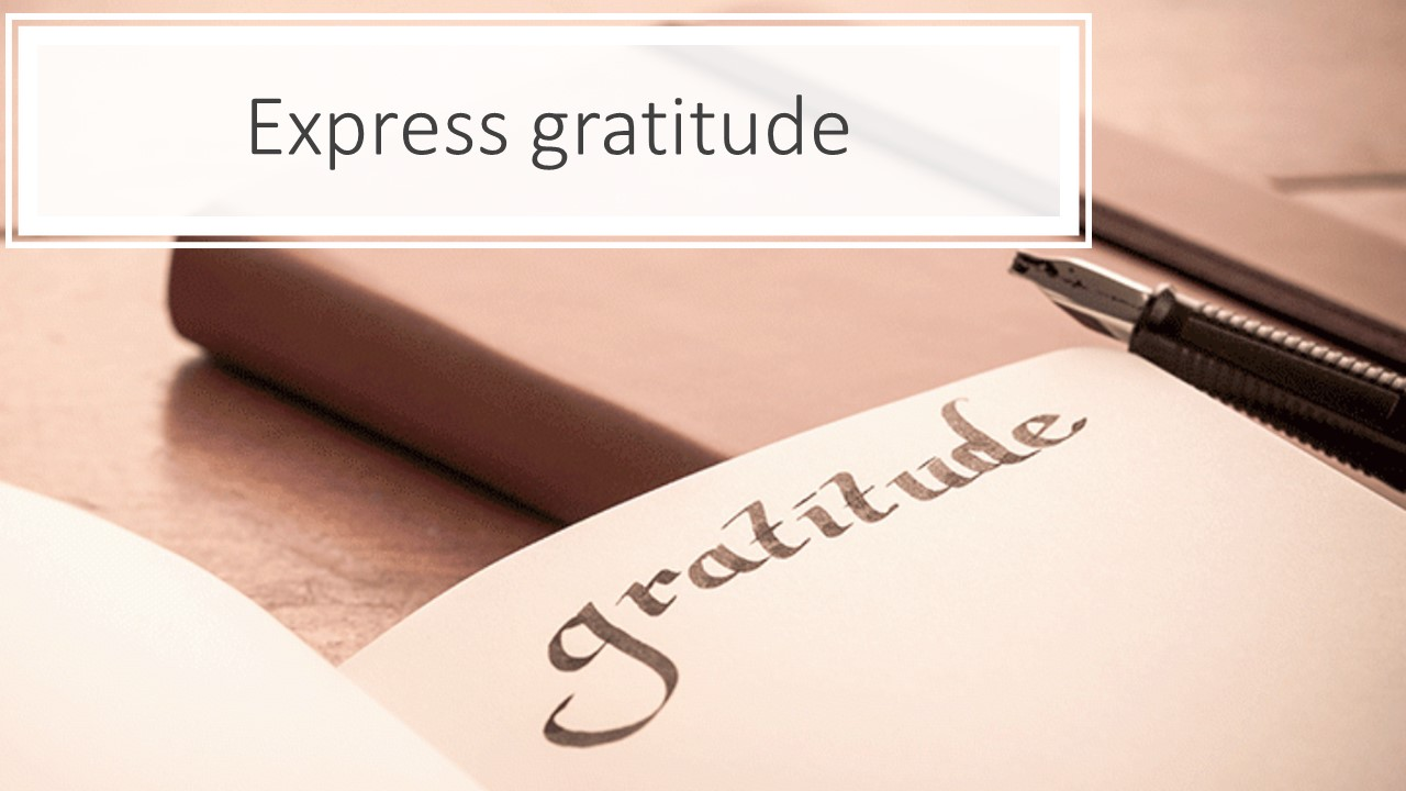 start your day off with gratitude