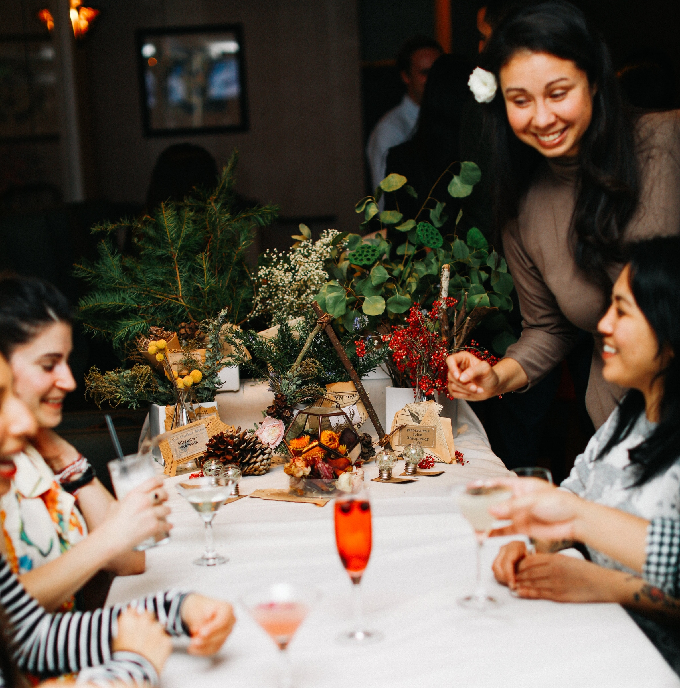 Join a Workshop      Tuesday,May 22, 2018   Just in time for this year's Lightning in a Bottle Festival, we'll be making flower tattoos (out of real flora!) that will last you through the dance party and beyond! Come make the ultimate festival accessory over bubbles.Afterwards, stay to enjoy a 20% discount off everything in the trendy SF boutique, Covet.https://flower-tattoo.eventbrite.com   Thursday, June 14th 2018- We've prepared a special flowery drink menu for you to enjoy while we lead you in the creation of a movement-focused floral arrangement using the lost language of flowers. This workshop overlooks downtown San Francisco from the inside of a beautiful, historic bar. Ticket includes all materials and a flowery cocktail exclusive to this collaboration. $99. In order to keep price low, workshop minimum is 10 people. Full refunds will be issued if min. not met 3 days before event.Email hi@bloomequation.com to purchase.