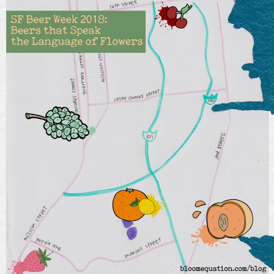 SF Beer Week 2018 Fruity Beer Map