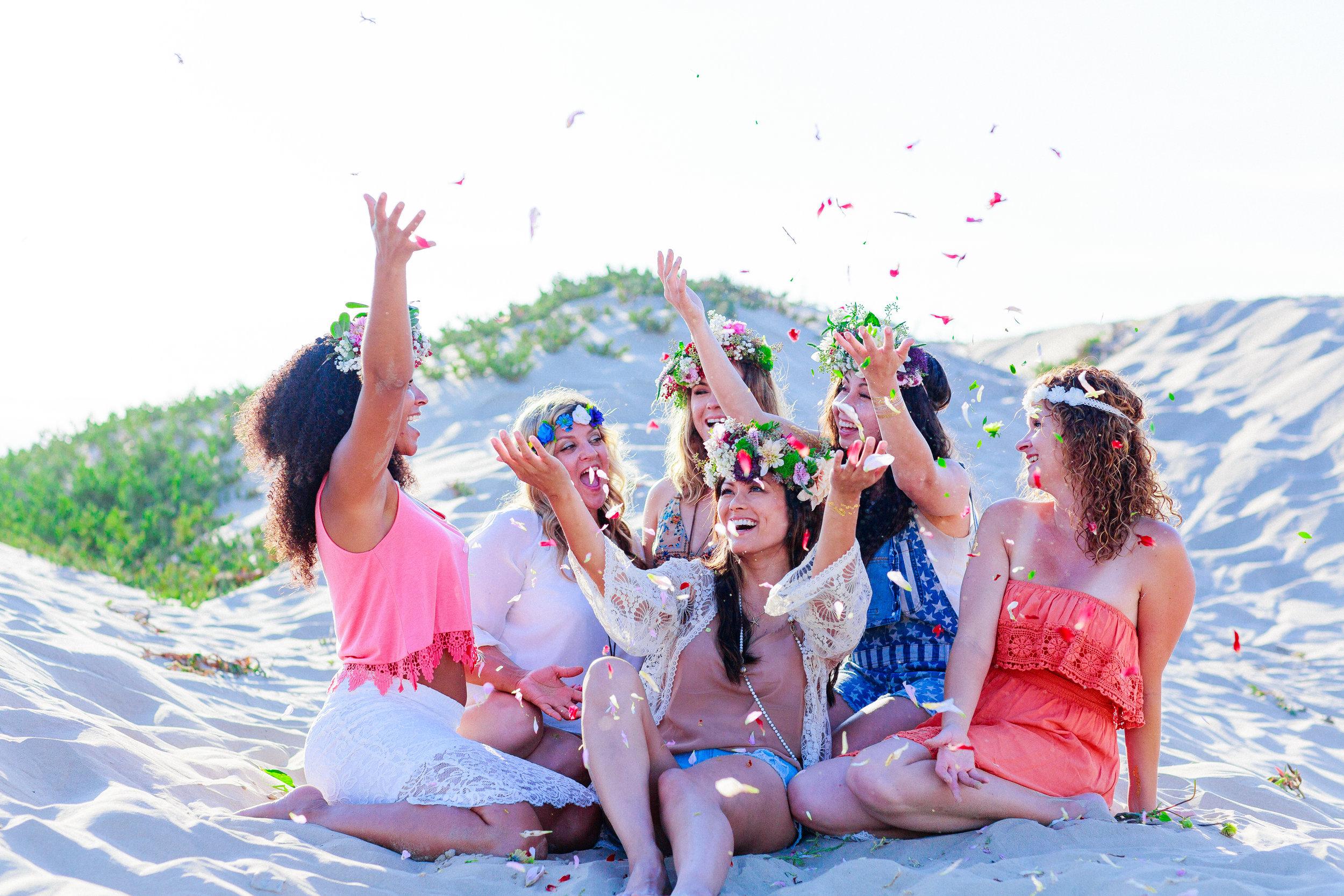 bridesmaid flower crown workshop