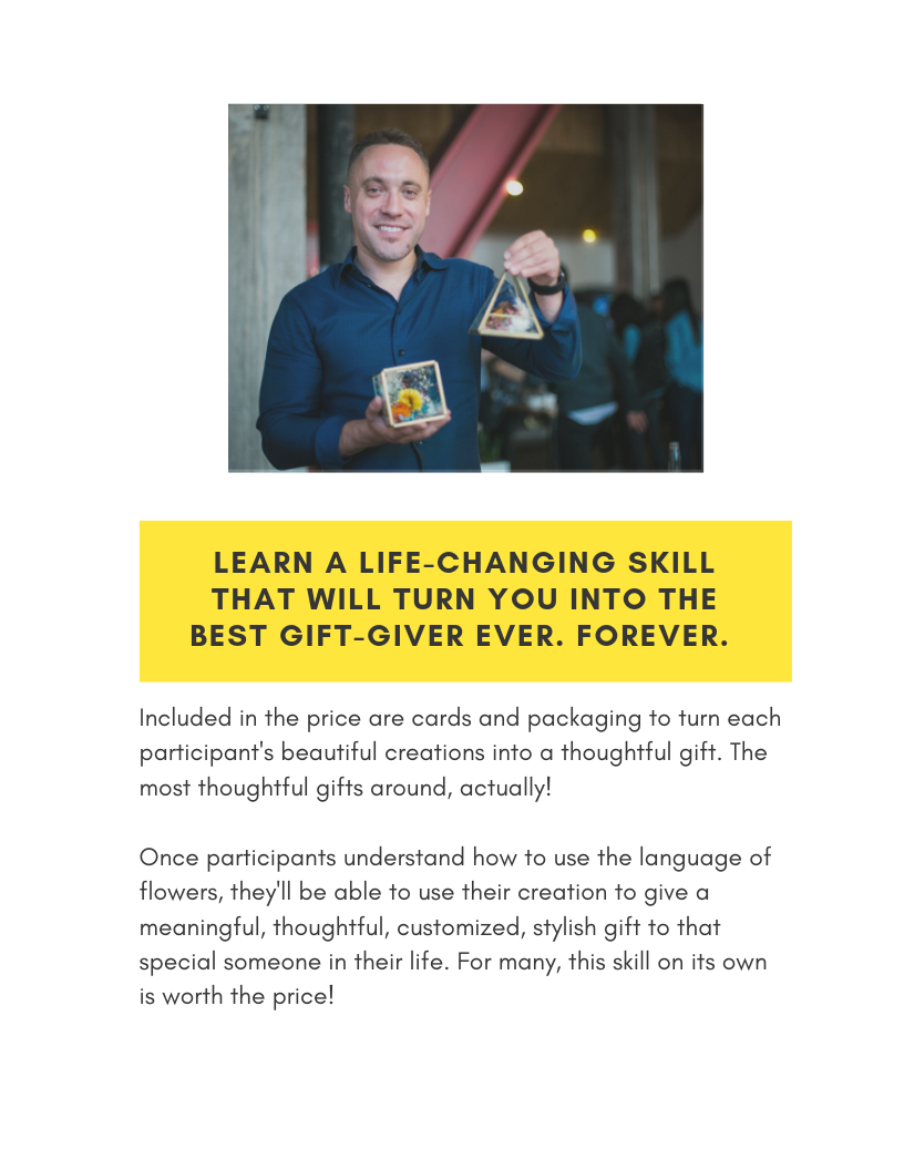 learn a life changing skill team building activity