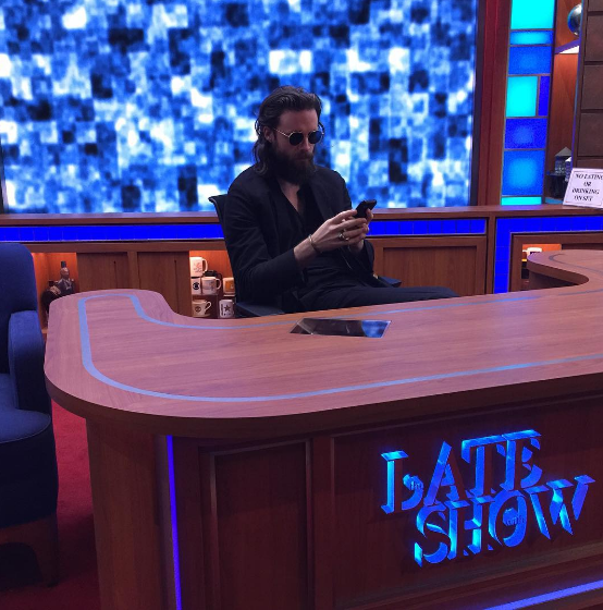 Many don't know this, but Father John Misty actually was CBS' first choice to host the Late Show. He graciously declined when they told him he was not allowed to live-tweet during the show.