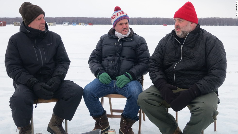 Anthony Bourdain with Joe Beef owners Fred Morin (center) and Dave McMillan (right). (Photo:  Parts Unknown  - CNN)