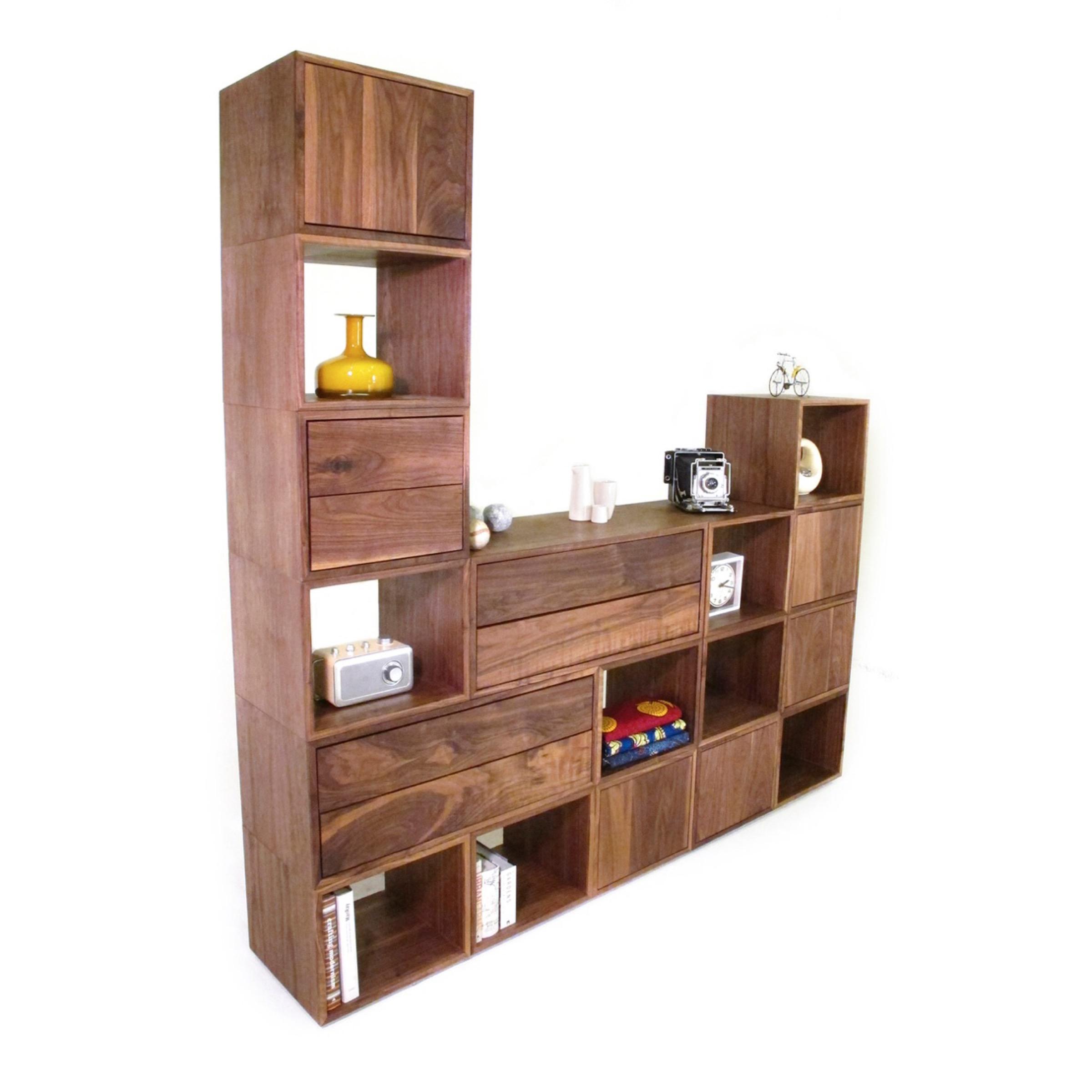 Walnut Cubes     modular system
