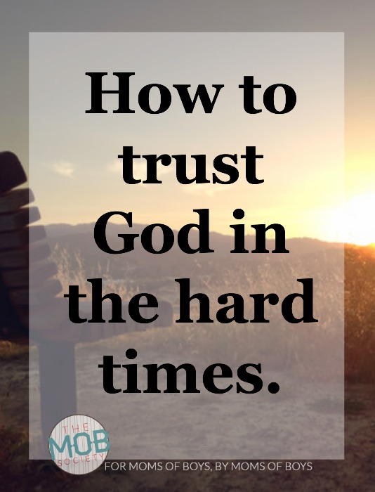 When I know down deep in my knower that God is always going to act in His own best interest, I can trust that it will be in my best interest, too