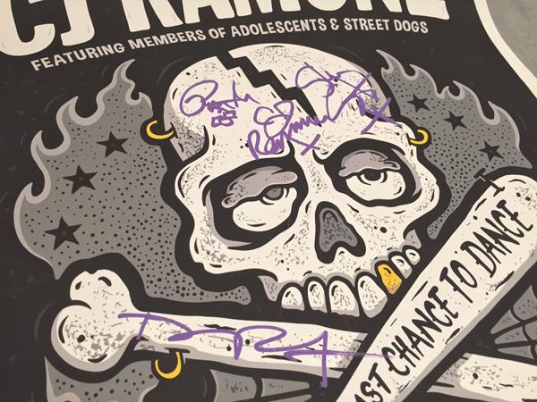 CJ Ramone Poster Signed