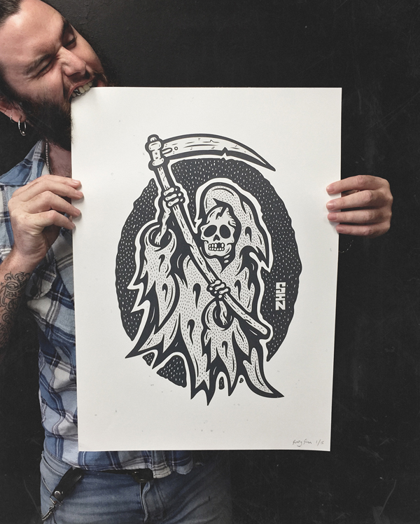 Reaper a2 screenprint