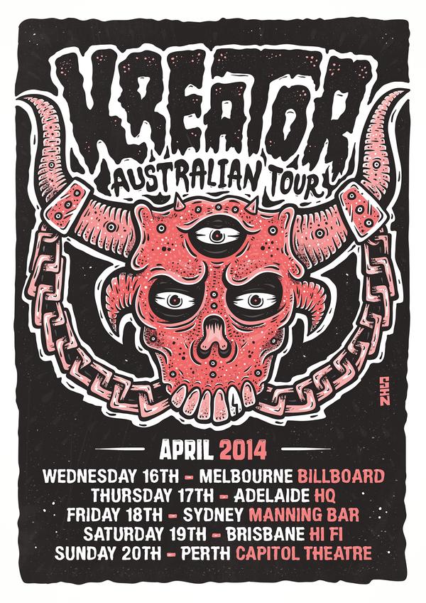 Kreater Australian Tour Poster